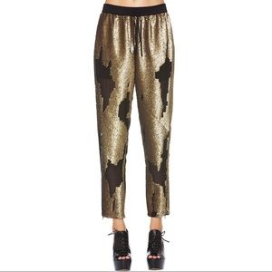[Robert Rodriguez] Distressed Sequin Track Pants